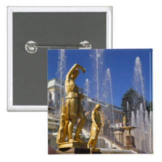 Russia, St. Petersburg, Golden statues in the Button