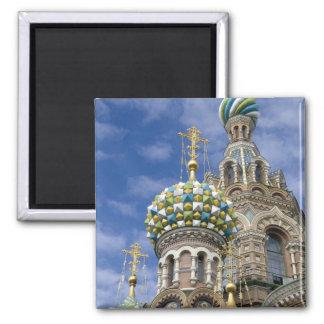 Russia, St. Petersburg, Nevsky Prospekt, The 2 Inch Square Magnet