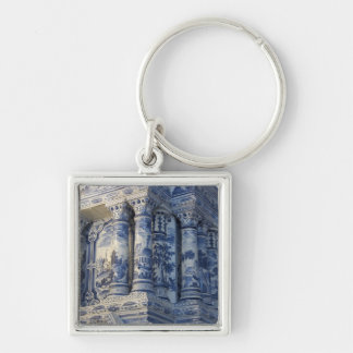 Russia, St. Petersburg, Pushkin, Catherine's 2 Silver-Colored Square Keychain