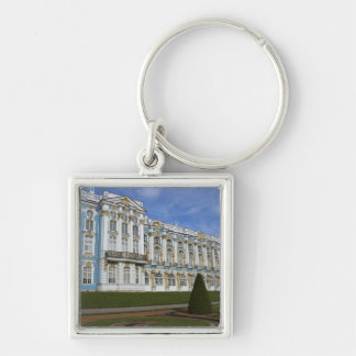 Russia, St. Petersburg, Pushkin, Catherine's 4 Silver-Colored Square Keychain
