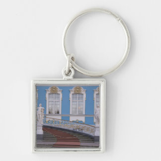 Russia, St. Petersburg, Pushkin, Catherine's 5 Silver-Colored Square Keychain