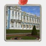 Russia, St. Petersburg, Pushkin, Catherine's Square Metal Christmas Ornament