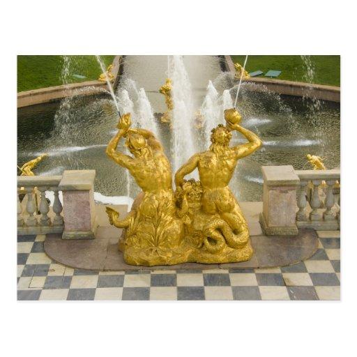 Russia, St. Petersburg. Samson fountain at Postcards