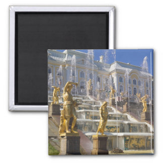 Russia, St. Petersburg, The Great Cascade, 2 Inch Square Magnet