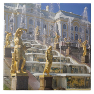 Russia, St. Petersburg, The Great Cascade, Ceramic Tile