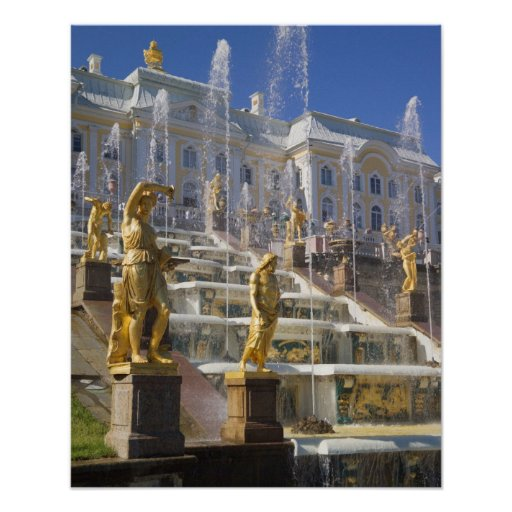 Russia, St. Petersburg, The Great Cascade, Poster