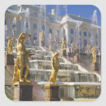 Russia, St. Petersburg, The Great Cascade, Square Sticker