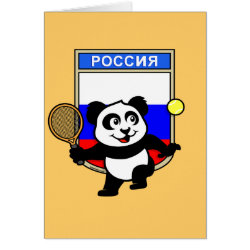 Greeting Card with Russian Tennis Panda design