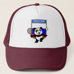 Russian Tennis Panda Trucker Hat