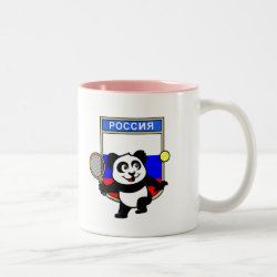 Two-Tone Mug with Russian Tennis Panda design