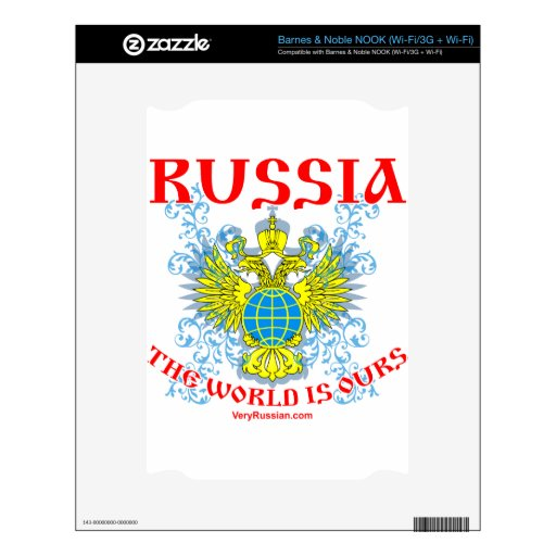 Russia The World is Ours Мир Наш! Decals For NOOK
