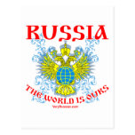 Russia The World is Ours Мир Наш! Postcard