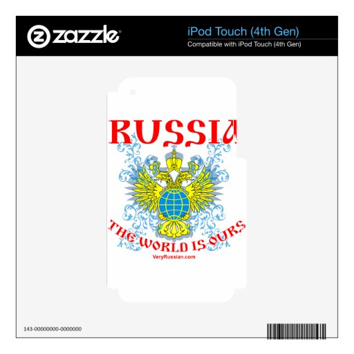 Russia The World is Ours Мир Наш! Skin For iPod Touch 4G