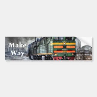 Russia Train Locomotive Bumper Sticker