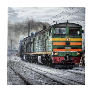 Russia Train Locomotive Ceramic Tiles