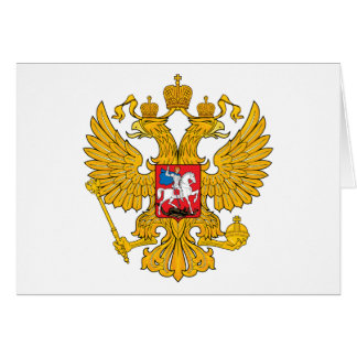 Russia Two Headed Eagle Card