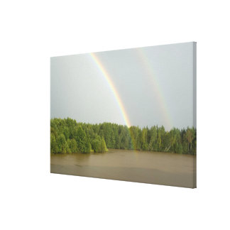 Russia, Typical river views between Goritzy & Canvas Print