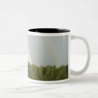 Russia, Typical river views between Goritzy & Two-Tone Coffee Mug