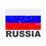 Russia Vintage Flag Postcard