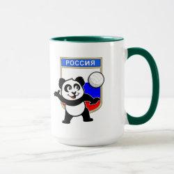 Combo Mug with Russian Volleyball Panda design
