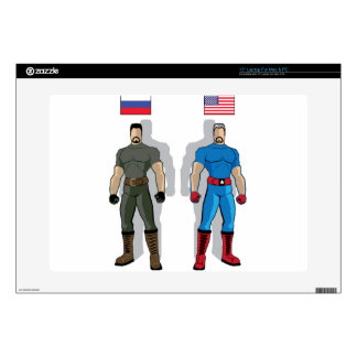 Russia vs USA Military Heroes Laptop Decal