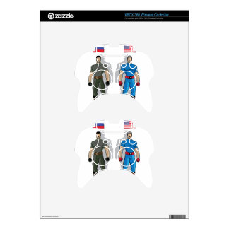 Russia vs USA Military Heroes Xbox 360 Controller Decal