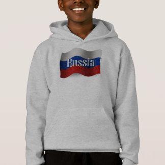 Russia Waving Flag Hoodie