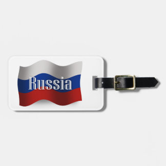 Russia Waving Flag Tag For Luggage