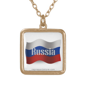 Russia Waving Flag Custom Necklace