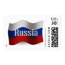 Russia Waving Flag Postage