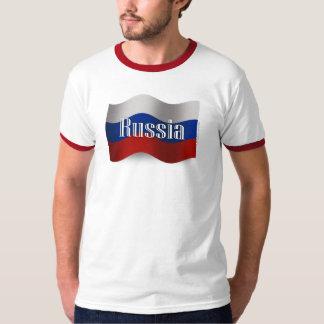 Russia Waving Flag T Shirt