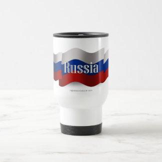 Russia Waving Flag Travel Mug