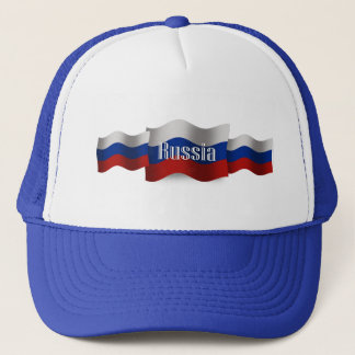 Russia Waving Flag Trucker Hat