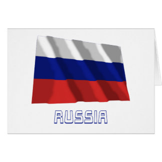 Russia Waving Flag with Name Cards