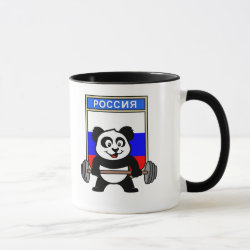 Russian Weightlifting Panda Combo Mug