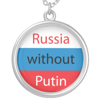Russia without Putin Silver Plated Necklace
