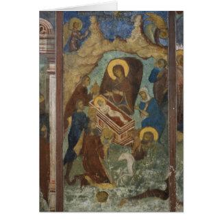 Russia, Yaroslavl, fresco in Cathedral of St. 2 Card