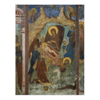 Russia, Yaroslavl, fresco in Cathedral of St. 2 Postcard