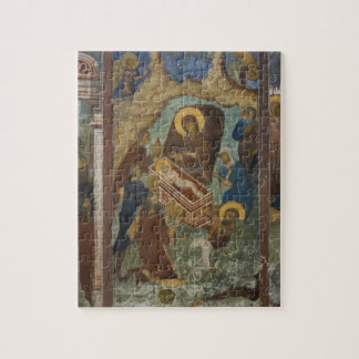 Russia, Yaroslavl, fresco in Cathedral of St. 2 Puzzle