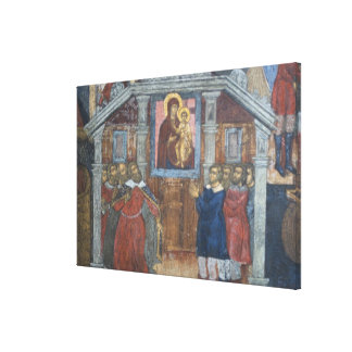Russia, Yaroslavl, fresco in Cathedral of St. Canvas Print