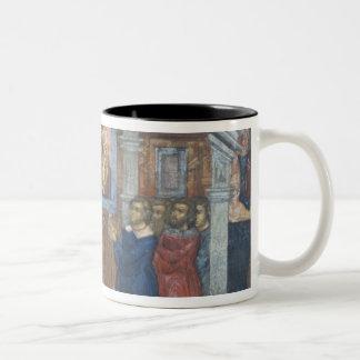 Russia, Yaroslavl, fresco in Cathedral of St. Mug