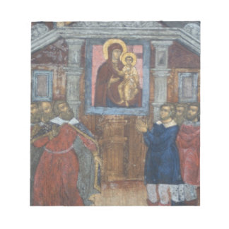 Russia, Yaroslavl, fresco in Cathedral of St. Notepad