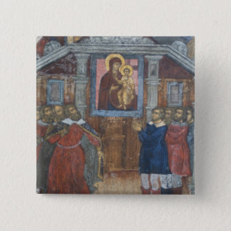 Russia, Yaroslavl, fresco in Cathedral of St. Pinback Button