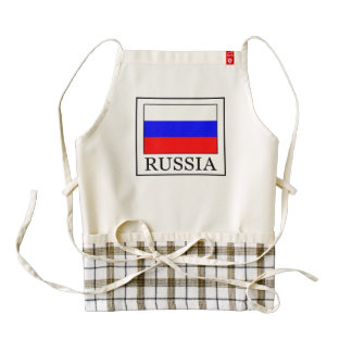 Russia Zazzle HEART Apron