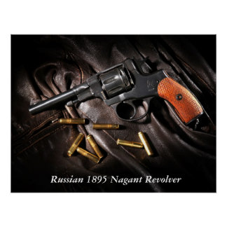 Russian 1895 Nagant Revolver Posters