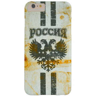 Russian 2 Headed Eagle Rust Stained Barely There iPhone 6 Plus Case