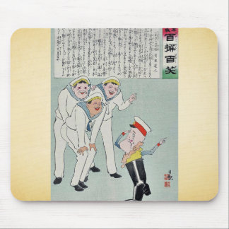Russian admiral one leg by Kobayashi.Kiyochika Mouse Pad