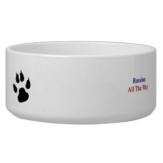 Russian All The Way Pet Food Bowls