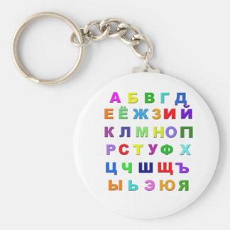 Russian Alphabet Keychain