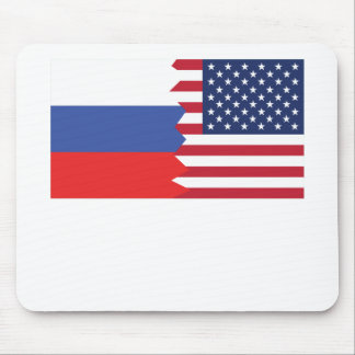 Russian American Flag Mouse Pad